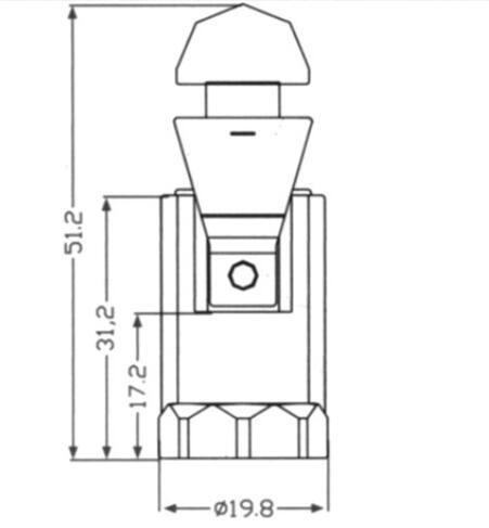 Phenolic E12 light bulb sockets smooth skirt & push in terminal