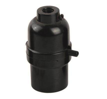 Phenolic E26 lamp sockets smooth skirt and lock screw