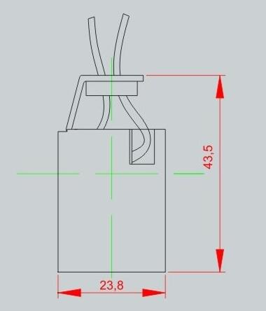 ceramic e12 lamp socket technical diagram