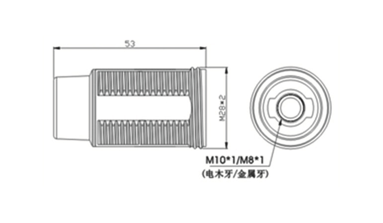 diagram of e14 light socket with thread & lock screw