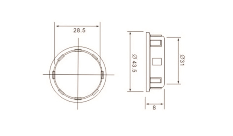 e14 lamp base Irregular skirt with outer ring drawing