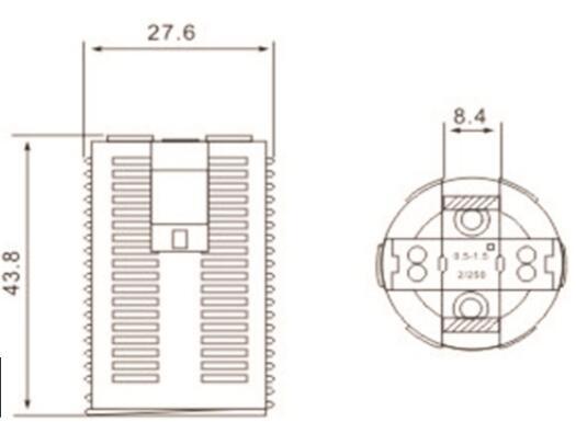 e14 lamp socket plastic all thread lamp base drawing