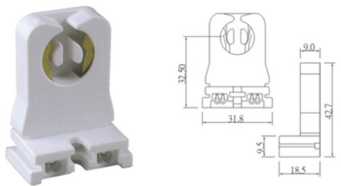 G13 lamp holder T8 fluorescent light socket 819
