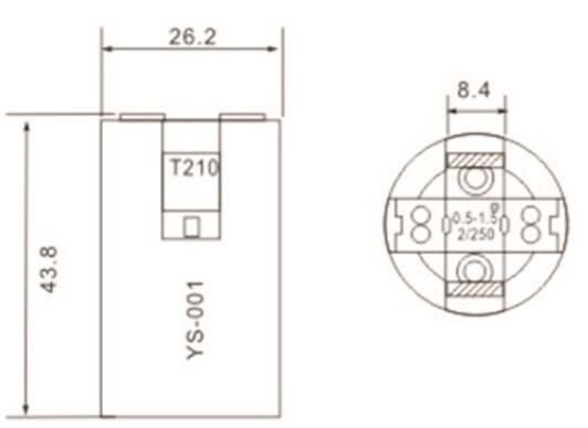 ses e14 lamp holder smooth skirt diagram