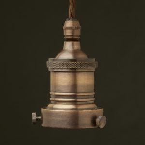 Antiqued 2.25 inch Cast Gallery brass bulb holder
