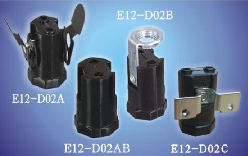 E12-D02A,E12-D02B,E12-D02AB,E12-D02C push in lamp holders