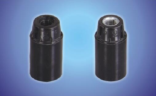 E14-D02 Screw lamp socket black