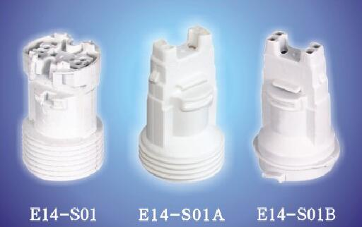 E14-S01AB push in plastic light socket white