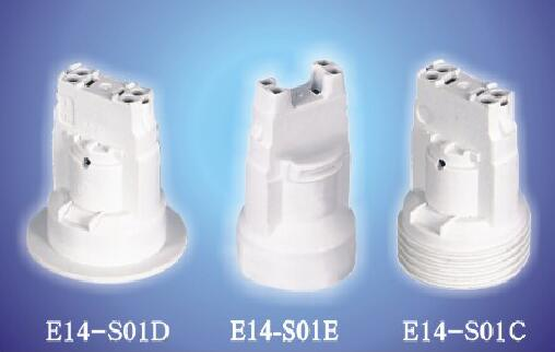 E14-S01DEC push in plastic lamp holder