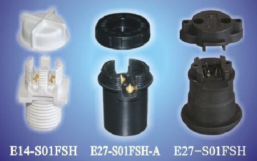 E14-S01FSH plastic lamp holders for string lights