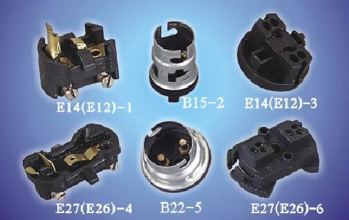 E14(E12)-1 E27(E26)-4 B22-5 B15-2 Insert Screw terminal ø3mm bakelite lamp holders