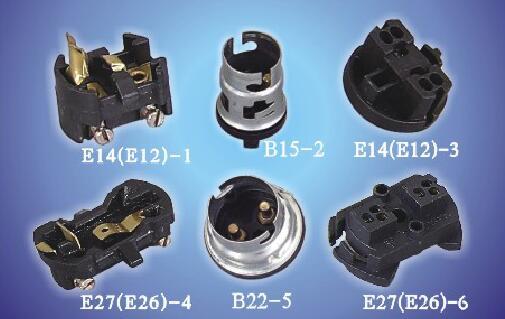 E14(E12)-1 E27(E26)-4 B22-5 B15-2 Insert Screw terminal ø3mm bakelite lamp holders