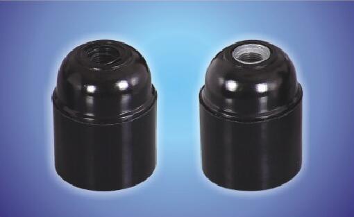 E26-D02 Medium e26 lamp holder bakelite black