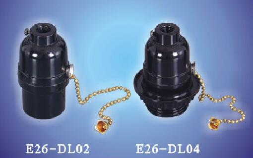E26-DL02,E26-DL04 switch bakelite lamp sockets