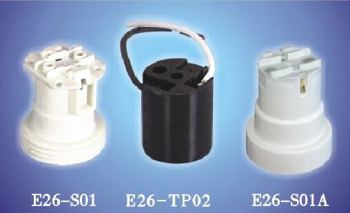 E26-S01,E26-TP02,E26-S01A bakelite plastic lamp holders for led