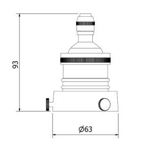 E27 brass lamp socket technical diagram