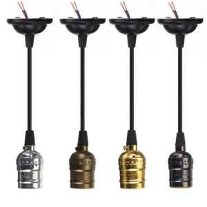 E27/E26 Retro Vintage Pendant cord grip lamp holder brass