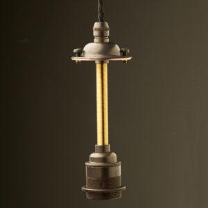 Brass factory shade E27 Light bulb socket Kit