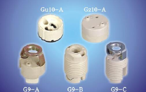 G9-A, G9-B, G-C, GZ10 Lamp holder socket