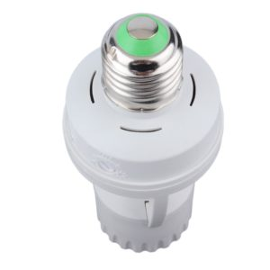 Indoor motion sensor light socket