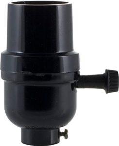 black lamp sockets