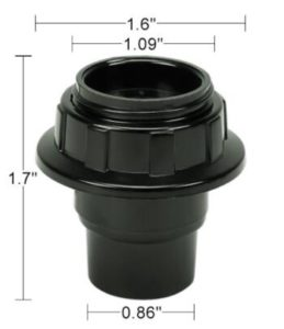 threaded light socket size