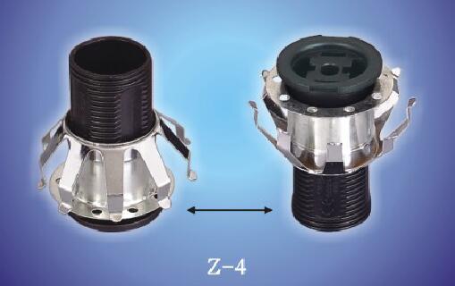 E12 E14 Z-4 lamp base with metal skirt