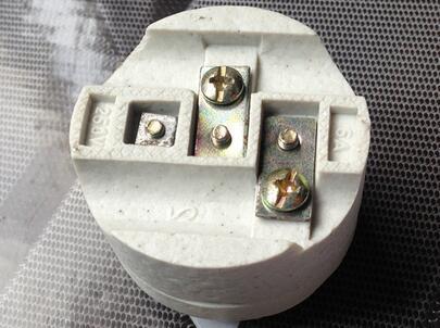 E27 F504 screw porcelain lamp socket white