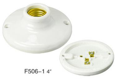 Porcelain Ceiling Keyless E27 4-1-2 screw light bulb socket