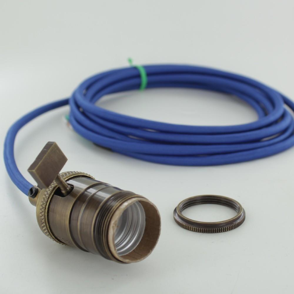 Brass vintage light bulb socket