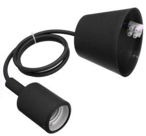 black e27 pendant lamp holder with UL