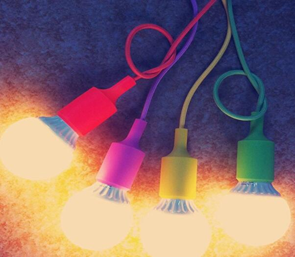 colorful pendant lamp holder for led bulbs