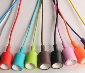 colorful silicon pendant light socket