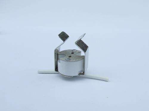 halogen bi pin socket with clip bracket