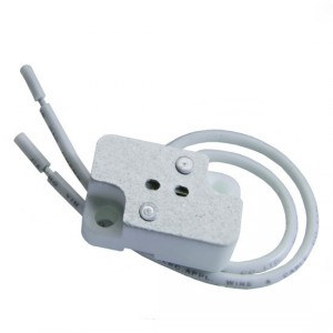G4 halogen bulb socket with leads