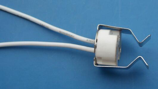 Ceramic halogen lamp socket GU5.3 MR16 lamp holder with metal bracket clips