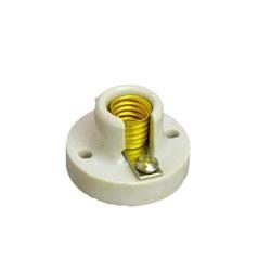white ceramic E10 lamp holder