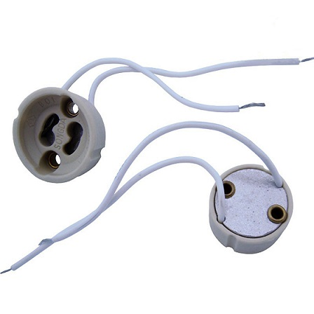 Gu10 led light bulb socket base holder with wire