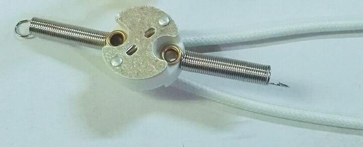 circular gu5.3 with 20cm spring for low voltage led halogen lamps