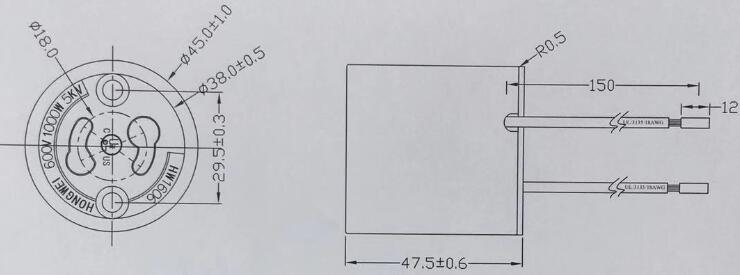 PGZ 315 lamp holder diagram