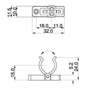 Screw fixing TR5-F57 diagram