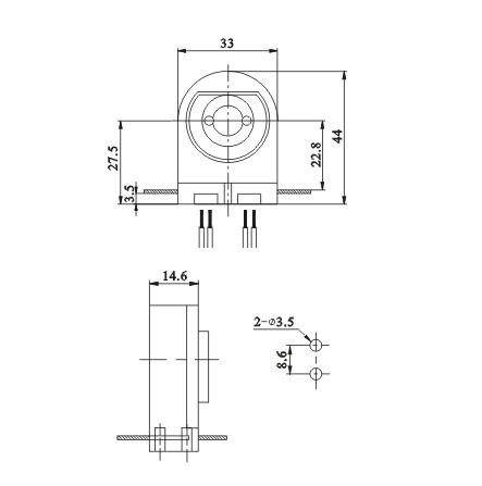 screw LED fluorescent lamp holders G13 F05 diagram