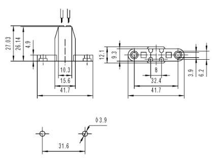 G10Q F34 C fluorescent lamp holder lighting fixture diagram