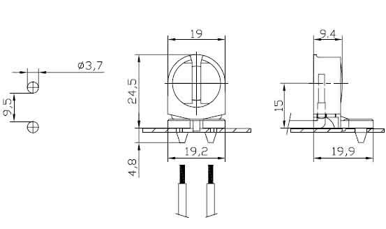 fluorescent LED light sockets F288 G diagram