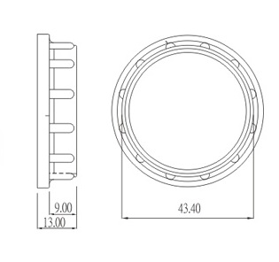 6001-17 Plastic counter ring Drawing