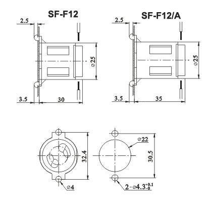 T8 Fluorescent Light Socket Starter holder Diagram