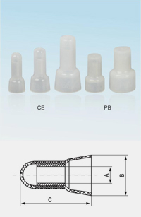 Closed-End Wire Connectors Crimp Terminals Cap Diagram