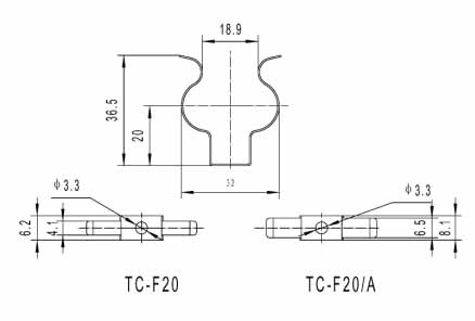 Compact fluorescent lamp metal bracket Dimension