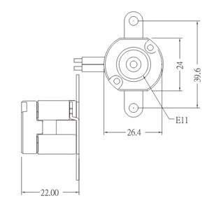 E11 porcelain halogen lamp holder socket base dimension
