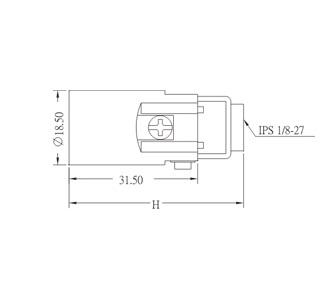 E12 Phenolic Candelabra Lamp holder Edison Screw Base Drawing